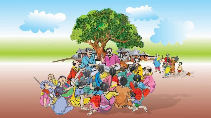 दाड़लाघाट की तीन पंचायतें बनवाने में ग्राम पंचायत की आमसभा में बढ़ चढ़कर लिया हिस्सा
