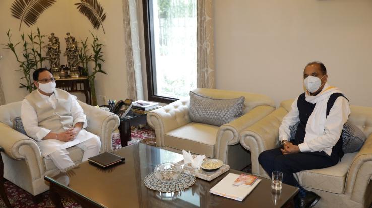 BJP राष्ट्रीय अध्यक्ष नड्डा से मिले मुख्यमंत्री, प्रदेश के कई मुद्दों पर हुई चर्चा