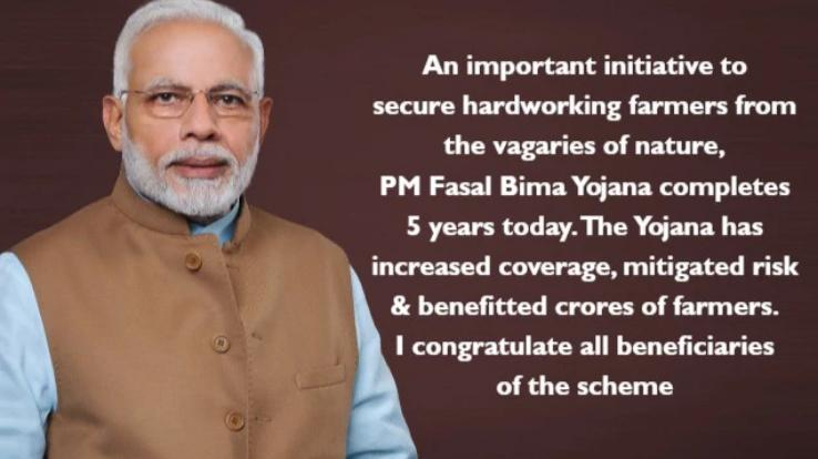 PM congratulates beneficiaries of PM-FBY on completion of 5 years