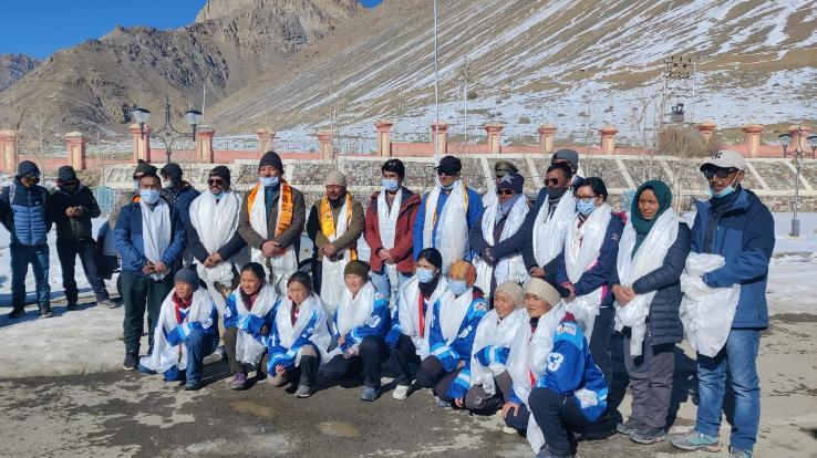 Himachal ice hockey team won bronze medal at national level
