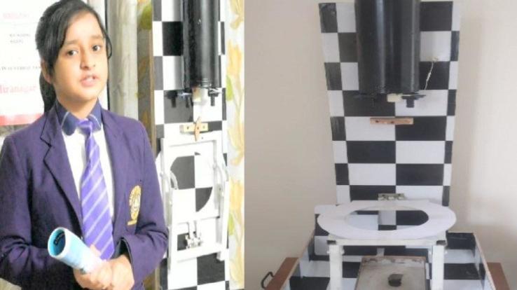 Deeksha-Thakur-of-seventh-grade-built-a-smart-washroom
