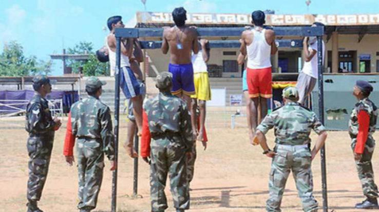 Army recruitment from 18 to 25 March