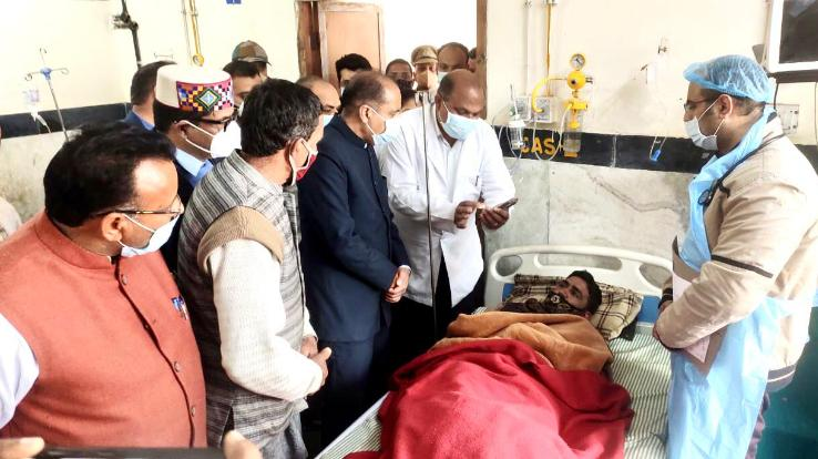 Chief Minister expressed grief over the death of four people in a road accident