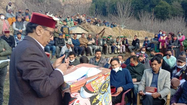 Kotkhai MLA Narendra Baragata visited Panchayats
