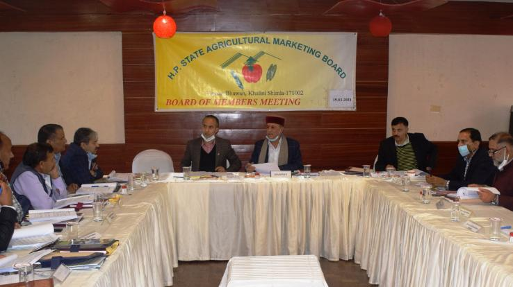 Shimla: Agricultural Marketing Board passed a budget of Rs 115 crores
