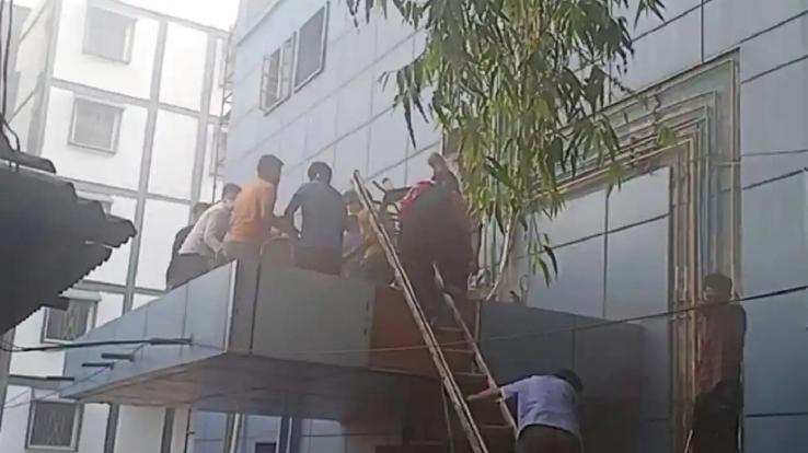 Fire in ICU of Cardiology Hospital