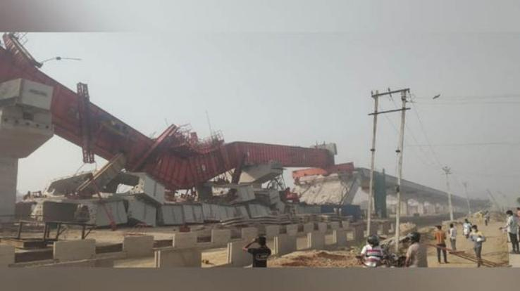 Under construction flyover on Gurugram Expressway collapsed in two parts, three laborers injured