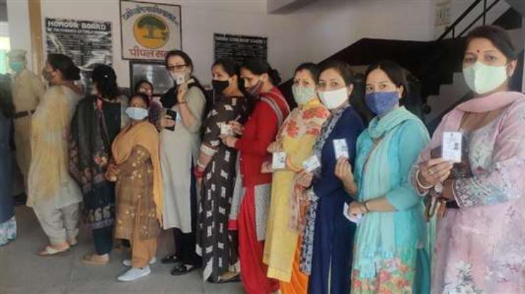 हिमाचल प्रदेश में  चार नगर निगम चुनाव के लिए आज मतदान