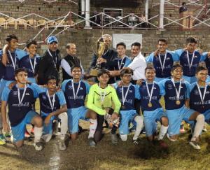 RKC, Rajkot Lifts U-17 Soccer Trophy first verdict media