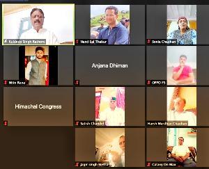 कांग्रेस प्रदेश अध्यक्ष कुलदीप सिंह राठौर ने कोविड स्थिति को लेकर बिलासपुर कांग्रेस कमेटी के पदाधिकारियों से की वर्चुअल बैठक