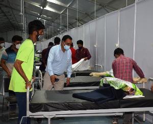Solan: Covid patients will soon get better health facilities at Makeshift Hospital Rabon