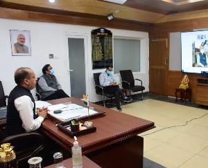 मुख्यमंत्री जयराम ठाकुर ने सोलन में मेकशिफ्ट कोविड अस्पताल का किया शुभारम्भ