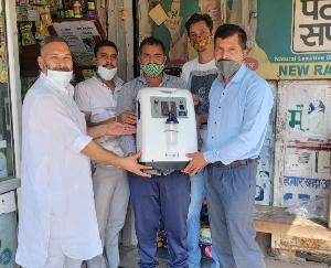 प्रदेश भाजपा कार्यकारिणी के सदस्य किशोर राणा ने कोविड काल में भेंट किया पांचवां ऑक्सीजन कंसंट्रेटर