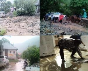 20 minutes of heavy rain caused havoc in district Chamba june 6 2021