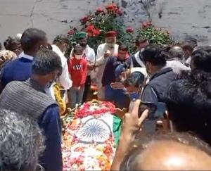 BJP chief whip Narendra Bragta cremated with state honors in his native village