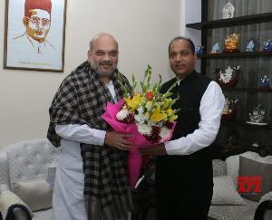 गृह मंत्री अमित शाह से मिले मुख्यमंत्री जयराम ठाकुर