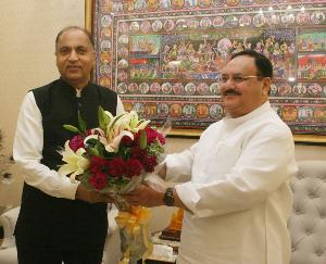 भाजपा राष्ट्रीय अध्यक्ष जेपी नड्डा से मिले मुख्यमंत्री जय राम ठाकुर , जानिये क्या रहा एजेंडा