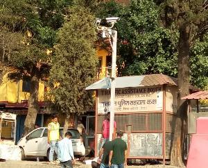 दाड़लाघाट : अपराधों पर अंकुश लगाने के लिए सीसीटीवी कैमरे स्थापित