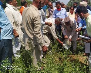 जसवां:परागपुर : भाजपा किसान मोर्चा ने कालेश्वर में किया बेठक का आयोजन
