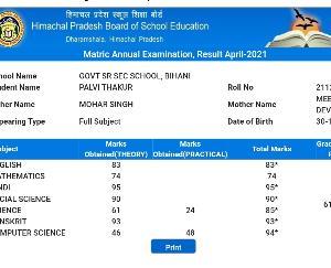 सिराज : बिहणी स्कूल की पल्लवी ने 10 वीं कक्षा में किये 614 अंक प्राप्त ,क्षेत्र में खुशी की लहर