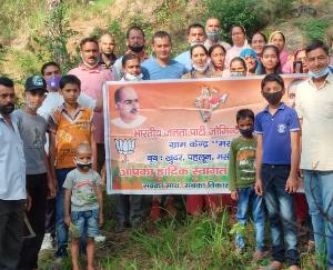 जोगिन्दरनगर :डॉक्टर श्यामा प्रसाद मुखर्जी की जयंती पर किया पौधरोपण