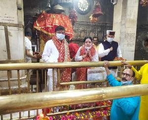 सुजानपुर के विधायक राजेंद्र राणा ने ज्वालामाता के दरबार में नवाया शीश