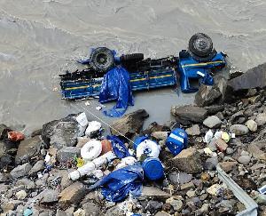 किन्नौर : जिला के खारो में वाहन दुर्घटनाग्रस्त-पुलिस कर रही छानबीन