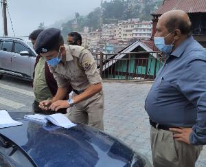 शिमला : कोविड के मध्यनजर होटलों का किया गया औचक निरीक्षण किया