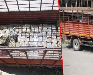 Biroja-laden truck caught on Chandigarh-Manali National Highway, police feared theft