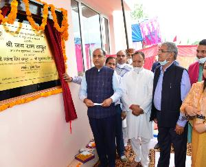 Mandi: The Chief Minister inaugurated and laid the foundation stone of 12 developmental projects in Sarkaghat assembly constituency.
