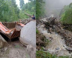 Heavy loss due to heavy rain in the night in Kullu district of the state