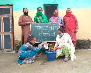 दाड़लाघाट : गांव छिब्बर में मनाया जा रहा राष्ट्रीय पोषण माह के अंतर्गत पोषण सप्ताह