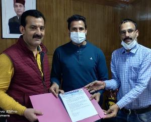 Compassionate union submitted memorandum to Ashwani Thakur, President of Non-Gazetted Employees Federation