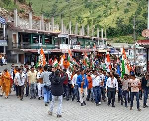 Youth Congress State President Nigam Bhandari rained heavily on the state and central government in Rajgarh