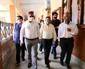 Education Minister inspected the Government Postgraduate College, Solan