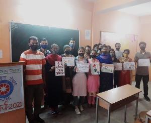 दाड़लाघाट :राजभाषा हिंदी दिवस के शुभ अवसर पर हिंदी पखवाड़े की शुरूआत