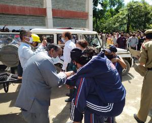 करसोग महाविद्यालय में किया गया भूकंप आपदा से बचने के लिए मॉक ड्रिल का आयोजन