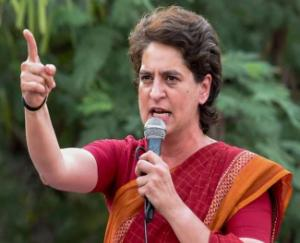 Before the assembly elections, the era of allegations and counter allegations started, Priyanka Gandhi rained on the Yogi government