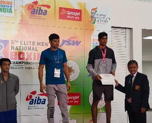 Sarkaghat: Avinash Jamwal won bronze medal in Senior National Boxing Championship