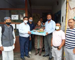 Free gas connections were distributed to the beneficiaries in Darlaghat