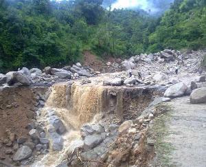 Cloud burst in Kugati Panchayat of Bharmour tribal area of Himachal Pradesh