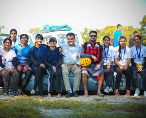 Hamirpur: Women showed stamina in rafting, local girls outperformed Air Force team