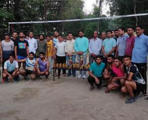Volleyball competition organized by youth club Khaira Chhechdi