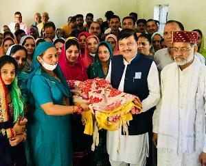 सुजानपुर : राजेंद्र राणा ने की सराय भवन बनाने के लिए 2 लाख की घोषणा