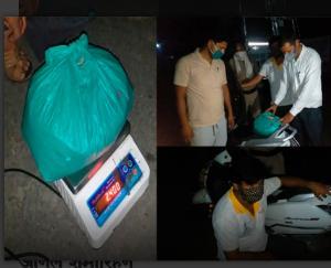 पुलिस ने 2 किलो 400 ग्राम चूरा पोस्त भूक्की की बरामद
