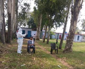 राजा का तालाब में बाहरी राज्यों से आए 40 लोगों के लिए थ्रोट सैंपल