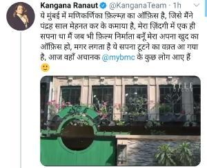 Kangana accuses BMC of forcefully taking over manikarnika films