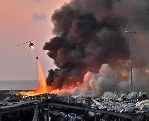 Massive-fire-breaks-out-at-Beirut-Port