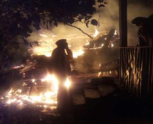 double-storied-house-caught-fire-in-chidgaon