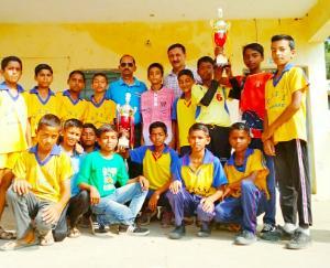 अंडर 14 छात्रों की जिला स्तरीय खेलकूद प्रतियोगिता का समापन